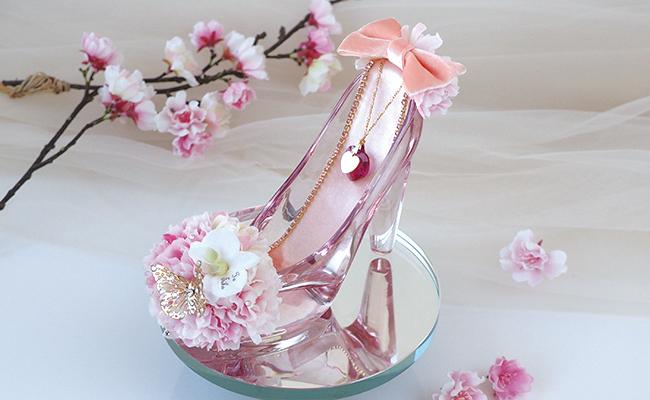 シンデレラのガラスの靴 桜ピンク