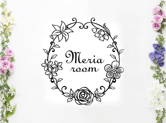 メリアルームお花の会社ロゴマーク