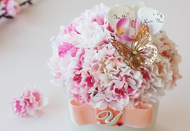 八重桜のフラワーギフト