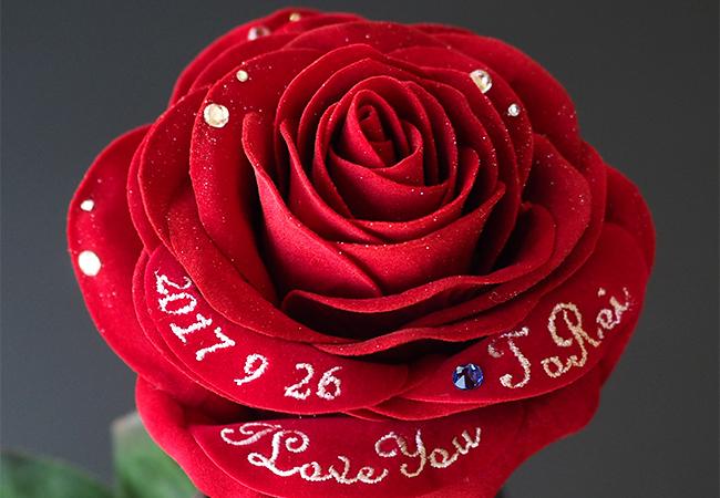 赤いバラのアートフラワー