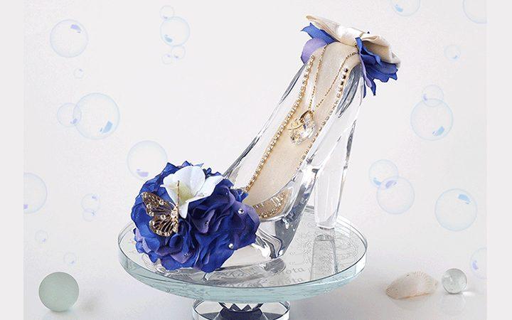 ガラスの靴オーシャンブルー