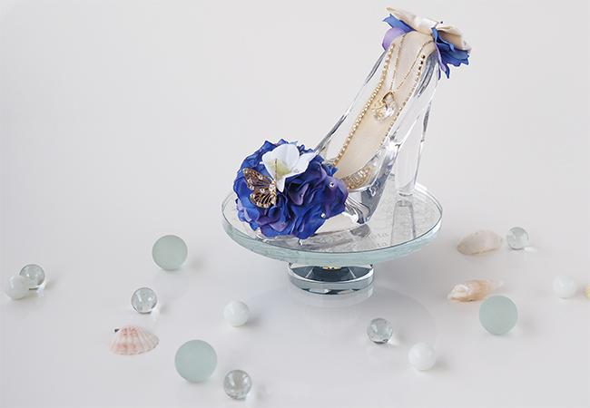 ガラスの靴 オーシャンブルー