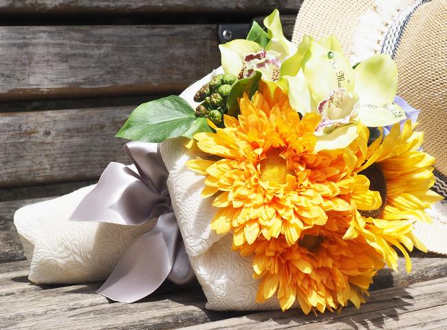 夏ギフト①:ひまわり花束