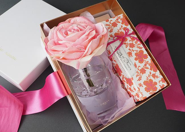 ピンクバラとハンドクリームのセット