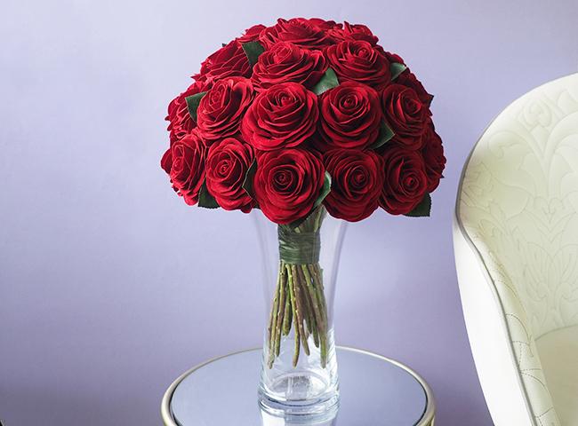 36輪の枯れないバラの花束