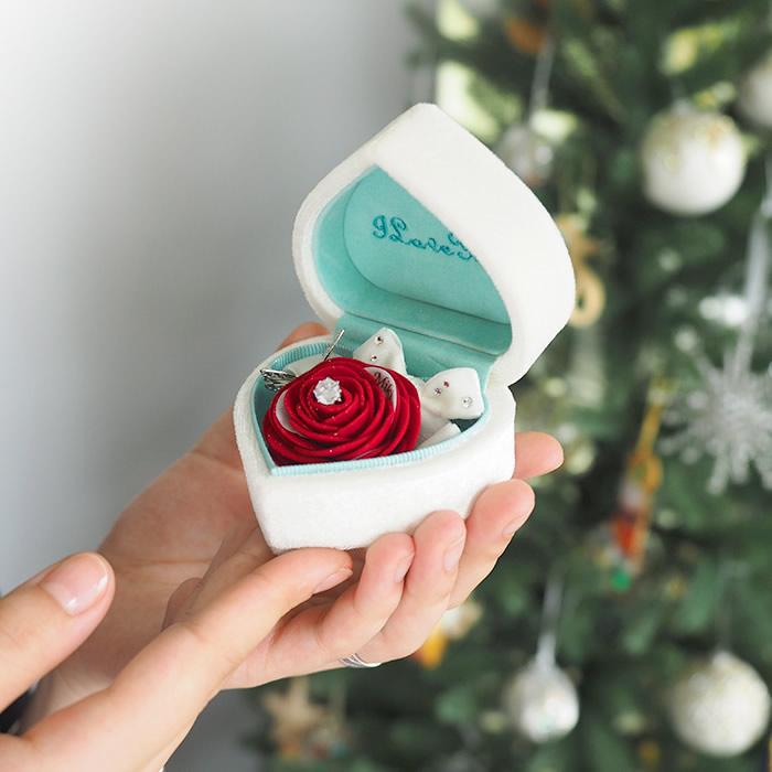 プロポーズ専用箱パカプロポーズボックス赤バラ