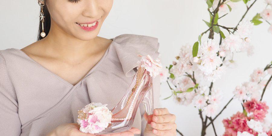 シンデレラのガラスの靴の春限定デザイン