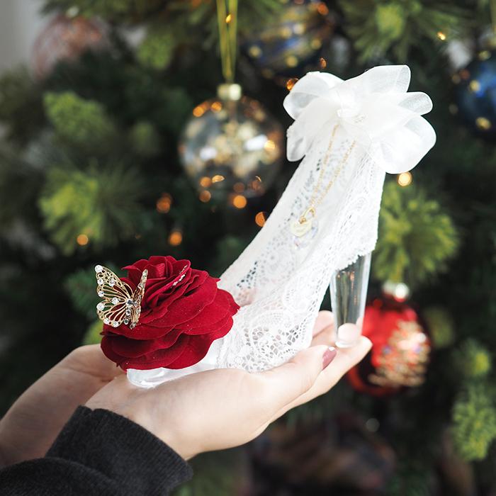 メリアルームのシンデレラのガラスの靴プリンセスローズ