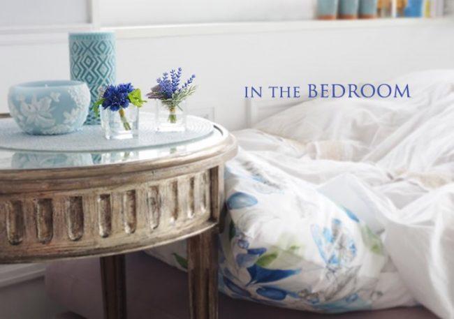 ベッドルームでのお花の飾り方